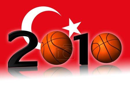 Big 2010 basketball with turkey flag