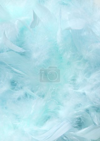 Photo for Cloudy blue sky fluffy feather textured background - Royalty Free Image