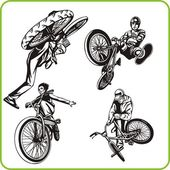 Boy on bicycle Extreme sport