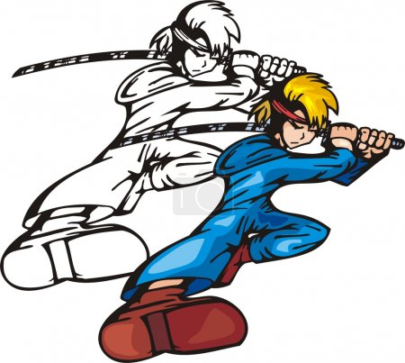 Anime fighters.