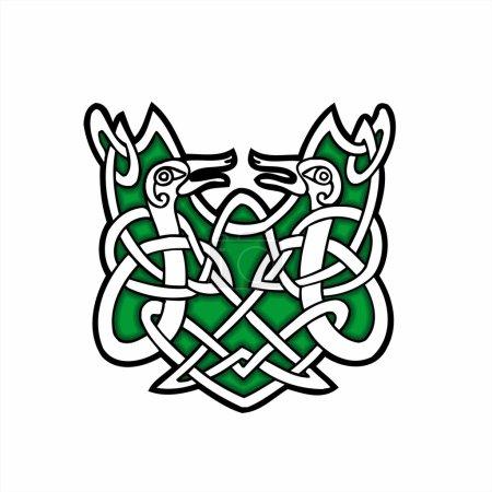 Celtic ornamental design.