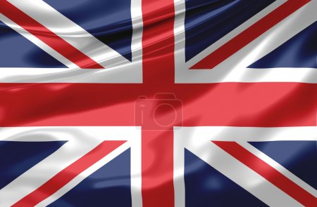 Photo pour Satin drapeau uk - image libre de droit