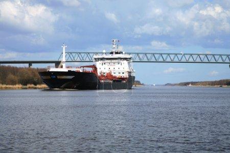 Oil tank on the Kiel Canal