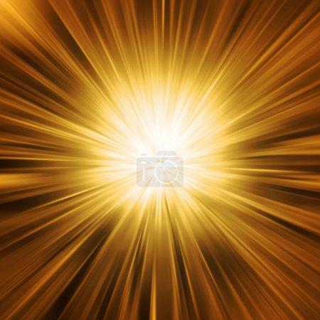 Photo for Golden Light Burst - Royalty Free Image