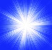 Star-burst on blue