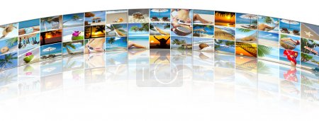 Photo for Summertime theme photo collage composed of few images - Royalty Free Image