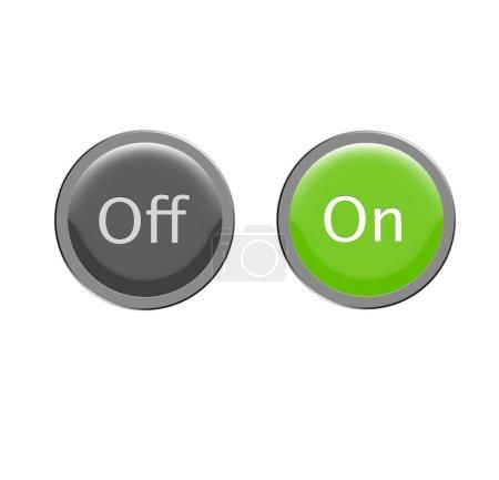 Photo pour Un ensemble de boutons marche / arrêt - image libre de droit