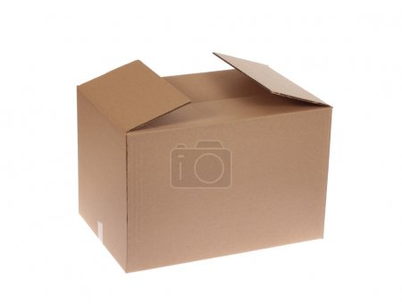 Photo for Cardboard box, photo on the white background - Royalty Free Image