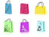 Six shopping bags
