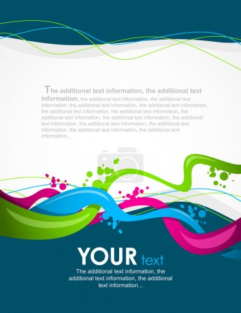 Illustration for Colour abstract background for design. A vector illustration - Royalty Free Image