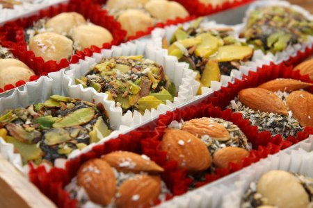 Traditional turkish delight sweets