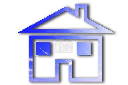 Photo pour Concept d'une maison mondialisée bon pour les affaires immobilières ou idée de mondialisation . - image libre de droit