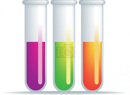 Illustration for Simple illustration of a set of test tubes - Royalty Free Image