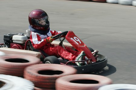 Young go cart race