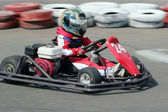 Young racer on circuit
