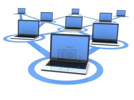 Laptop network (blue)
