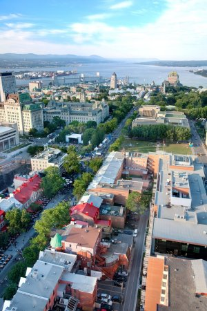Elevated View of Quebec City, Canada