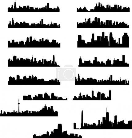 Foto de La colección ciudad skylines - vector - Imagen libre de derechos