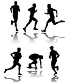 Running silhouettes- vector