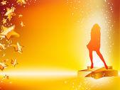 Girl Dancing on Star Yellow Flyer