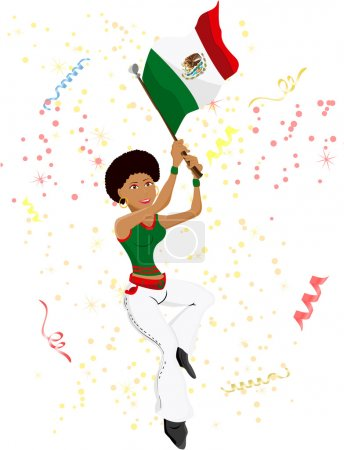 Black Girl Mexico Soccer Fan