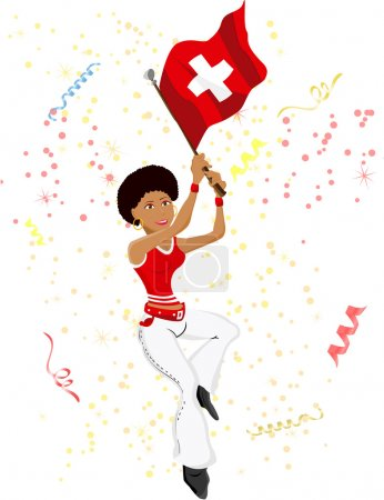Black Girl Switzerland Soccer Fan