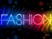 Fashion Abstract Colorful Waves on Black Background