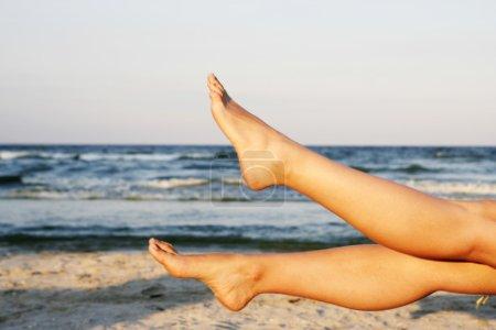 Woman's legs.