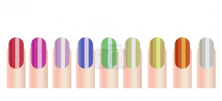 Illustration for Vector illustration of colourful nails - Royalty Free Image