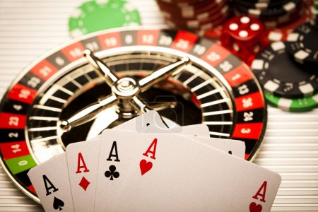 Roulette and Chips in Casino