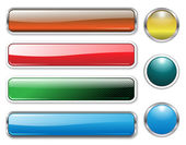 Banners, headers multicolored set