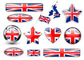 England United Kingdom flag buttons