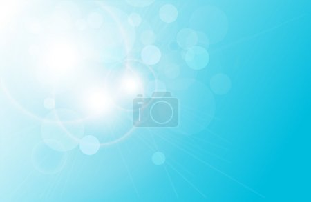 Illustration for Vector abstract background blue magical lights, bokeh - Royalty Free Image