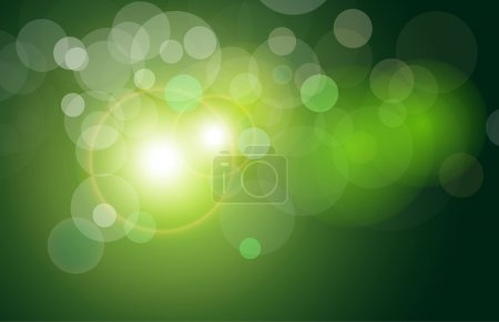Illustration for Vector background green and fresh magical lights, bokeh - Royalty Free Image