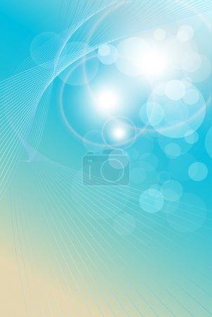Illustration pour Fond abstrait bleu clair, doux et élégance. Illustration vectorielle. - image libre de droit