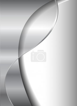 Illustration for Abstract business background, grey silver metallic, EPS10 transparency. - Royalty Free Image