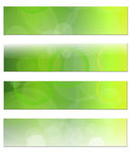 Banners headers abstract green vector