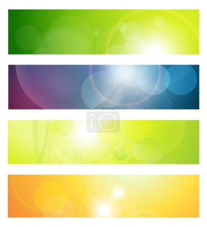 Illustration for Banners, headers abstract lights, vector. - Royalty Free Image