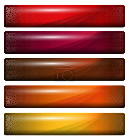 Illustration for Banners, headers glossy orange red , vector. - Royalty Free Image