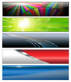 Banners headers colorful collection vector