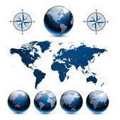 Země Globusy s mapou světa