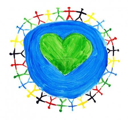 Photo pour Les enfants du monde entier - image libre de droit