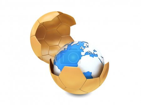 Earth and soccer ball
