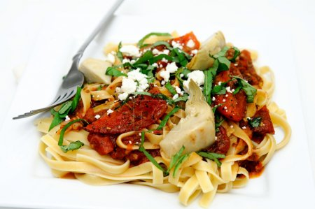 Fettuccine With Roasted Tomato And Basil