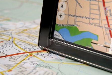 GPS et carte