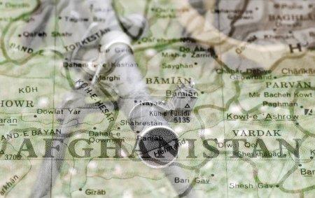Photo pour Afghanistan dans le Canon d'une arme à feu - image libre de droit