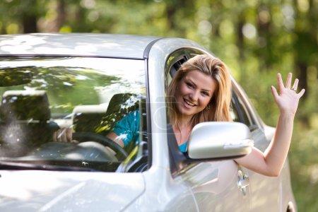 Кавказские леди с новый автомобиль