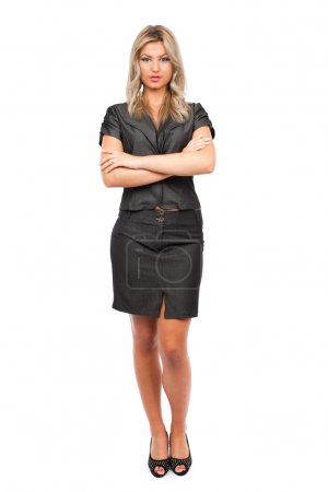 Attractive businesswoman, full body shot