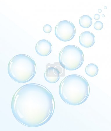 Illustration for Vector illustration of blue water bubbles - Royalty Free Image