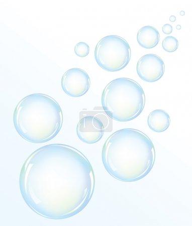 Illustration pour Illustration vectorielle des bulles d'eau bleue - image libre de droit